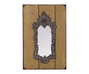 Espejo de madera – mostaza