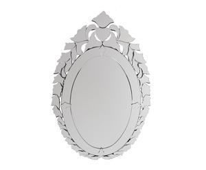 Espejo de vidrio oval