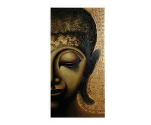 Lienzo de media cara de Buda Oro