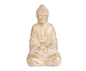 Figura de Buda sentado de terracota – dorado