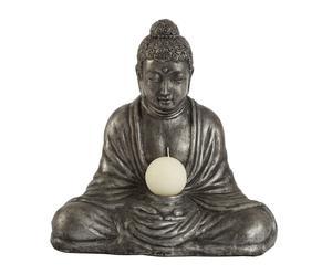 Figura de Buda sentado de terracota – plata