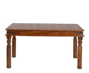 Mesa de comedor de madera de acacia - Marrón oscuro