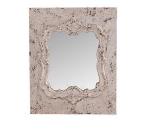 Espejo de resina - blanco decapado