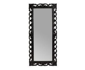 Espejo de madera de mango - negro