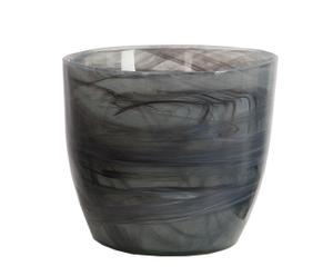 Macetero de vidrio - negro