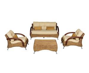 Set de sofá, 2 sillones y mesa de centro