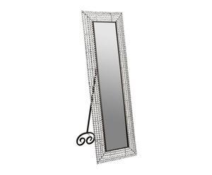 Espejo de pie de metal y PVC