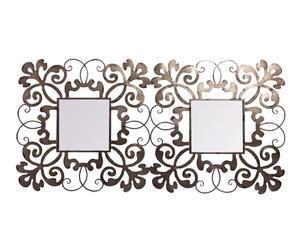 Cabecero de metal y espejo
