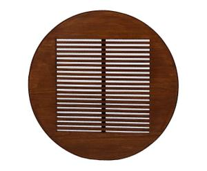 Porta CD's de pared de madera mindi – marrón
