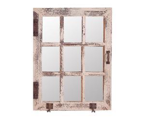 Espejo cuadrícula – marrón decapado