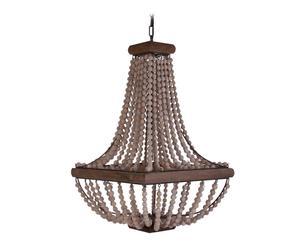 Lámpara de techo de madera y cristal  - dorado