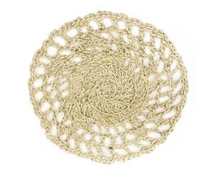 Mantel individual de cuerda fina de sisal Hipster, beige – grande
