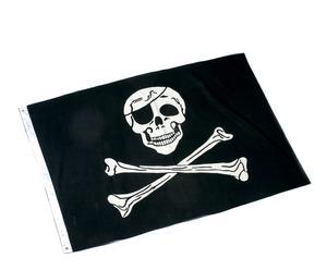 Bandera Pirata en algodón 100% Calaveras