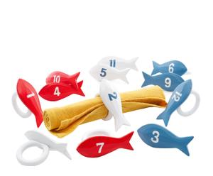 Set de 12 servilleteros de peces – multicolor