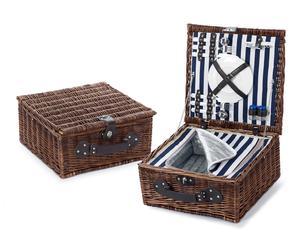 Cesta de picnic con 2 cubiertos