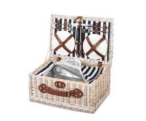 Cesta de picnic con 4 cubiertos
