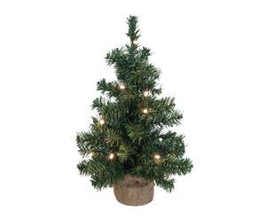 Árbol de navidad artificial con leds - H60cm