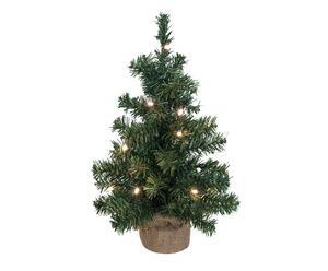 Árbol de navidad artificial con leds - H50cm