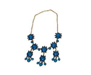 Collar ajustado en resina floral - azul eléctrico