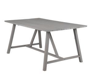 Mesa de comedor en madera de mango Dune – gris claro