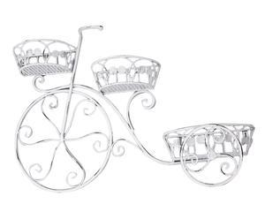 Bicicleta porta macetas de hierro – blanco