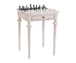 Mesa de ajedrez en mindi y vidrio legende