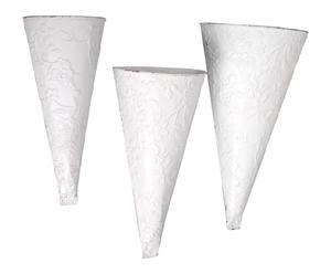 Set de 3 maceteros cónicos – blancos
