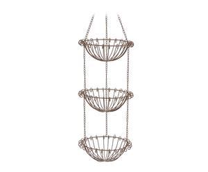 Set de 3 cestas porta tiestos en metal – gris