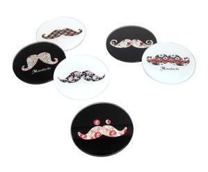 Set De 6 Posavasos De Vidrio Moustache