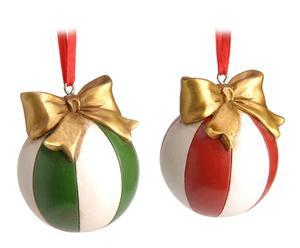 Set de 2 adornos colgantes Navidad