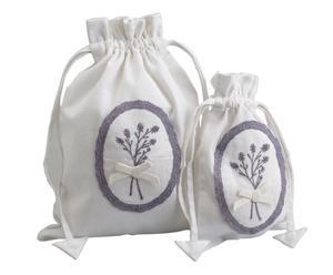Set de 2 bolsas de algodón Lavanda