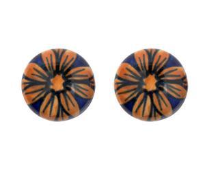 Set de 2 tiradores en cerámica y metal III – multicolor