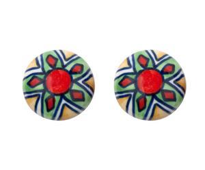 Set de 2 tiradores en cerámica y metal VII – multicolor