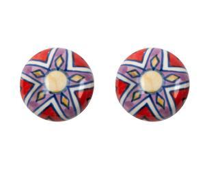 Set de 2 tiradores en cerámica y metal X – multicolor