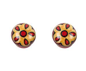 Set de 2 tiradores en cerámica y metal XIV – multicolor