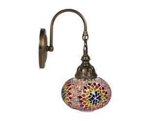 Lámpara de aplique en metal y vidrio Mosaico – multicolor