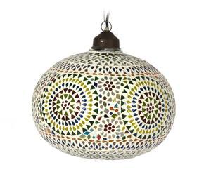 Lámpara de techo de metal y cristal I