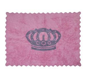 Alfombra Corona, rosa y gris– 120x160