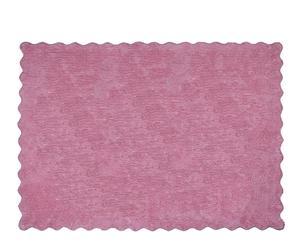 Alfombra Lisa en algodón 100%, rosa– 120x160
