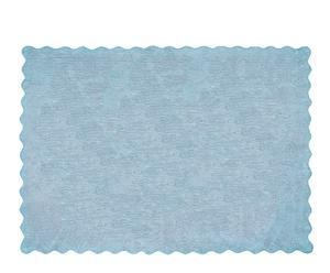 Alfombra Lisa en algodón 100%, celeste– 120x160