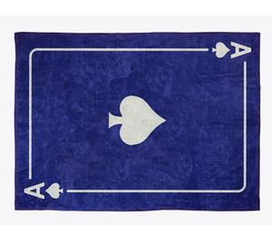 Alfombra en algodón As de Picas, azul marino– 120x160 cm