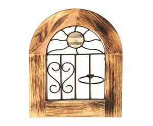 Ventana decorativa en madera y forja I