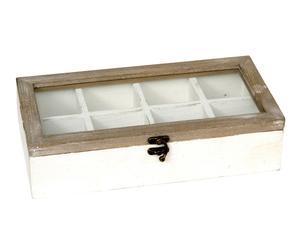 Caja organizadora en madera de abedul – blanca