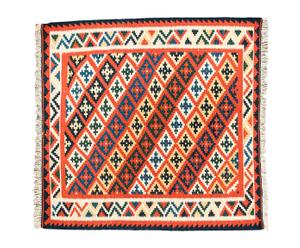 Kilim persa en lana fina 100% Lilac – 100x100