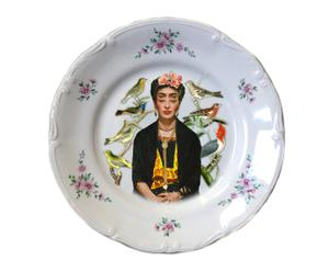 Plato decorativo en porcelana antigua Oculus Mexican