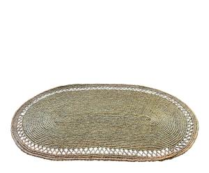 Alfombra ovalada en esparto, natural – 75x130