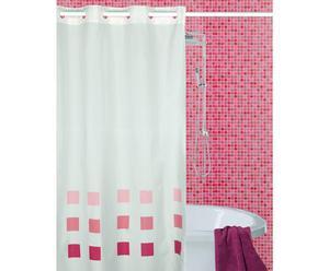 Cortina de baño Nubola, rojo – 180x200