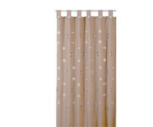Cortina de baño de algodón y poliéster Camelia, marrón – 180x200