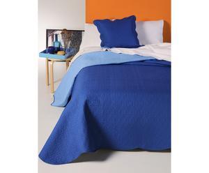 Set de boutie y funda de cojín Mont Blanc, Azul - 270x180