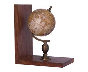 Sujetalibros con globo terráqueo